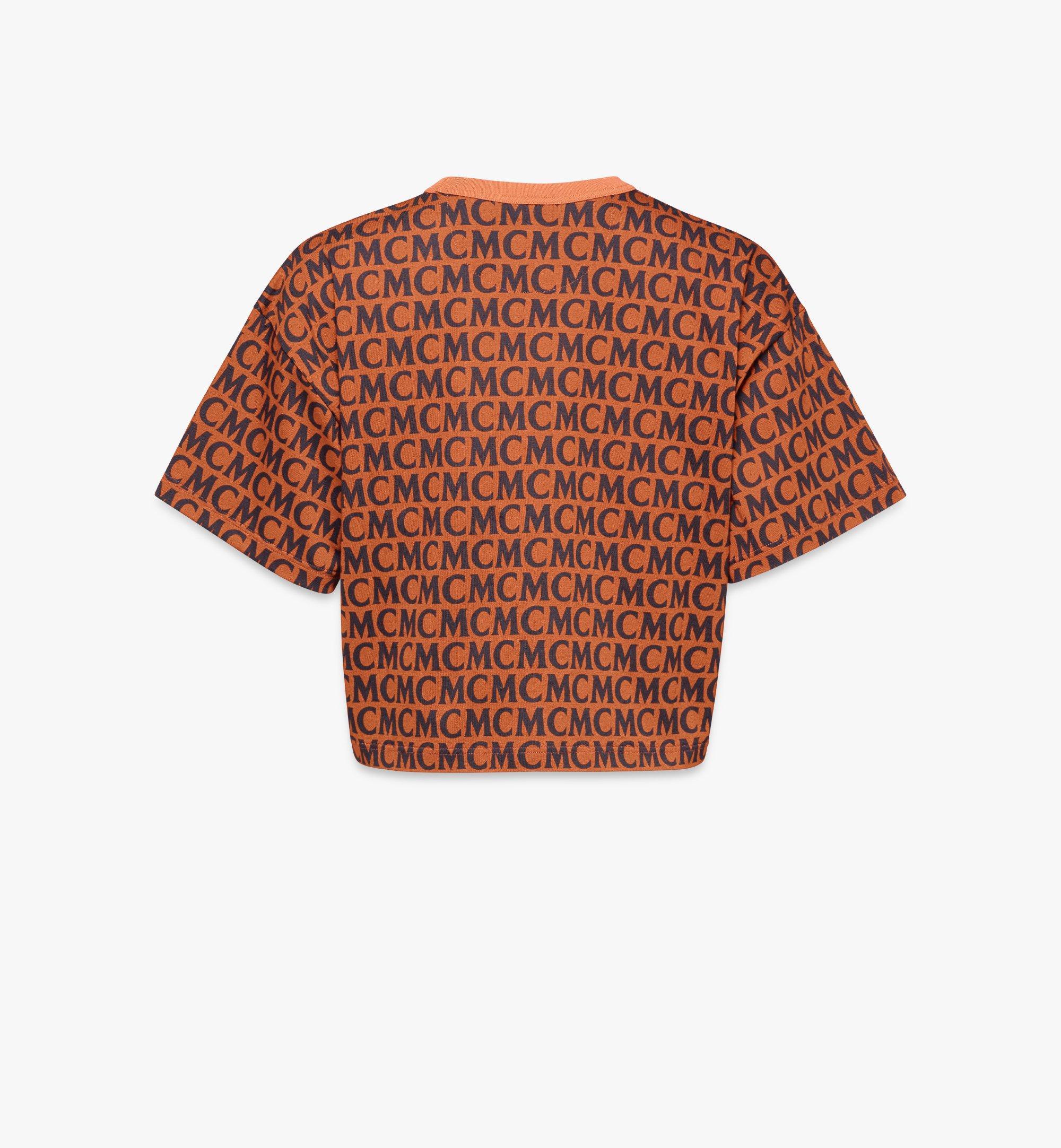 MCM T-shirt monogrammé pour femme Black MFTAAMD01C400L Alternate View 2