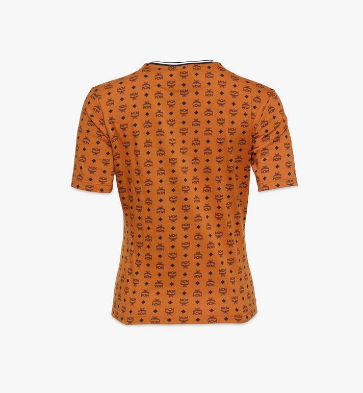 MCM Women's 1976 Visetos Print T-Shirt Cognac MFTAAMM02CO00M Alternate View 2