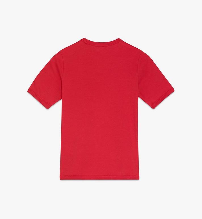 MCM Logo T-Shirt für Damen Red MFTASMM03R400M Alternate View 2