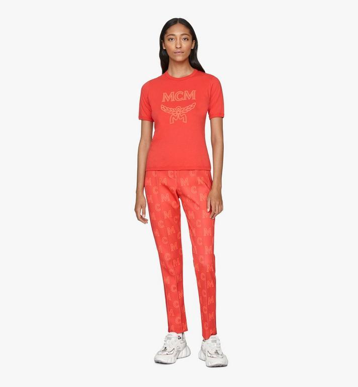 MCM Logo T-Shirt für Damen Red MFTASMM03R400M Alternate View 3