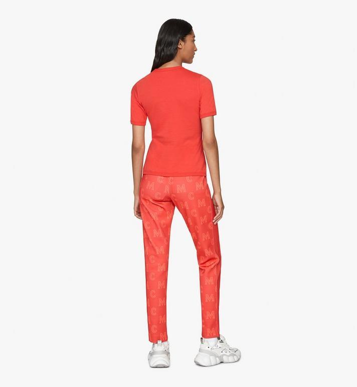 MCM Logo T-Shirt für Damen Red MFTASMM03R400M Alternate View 4