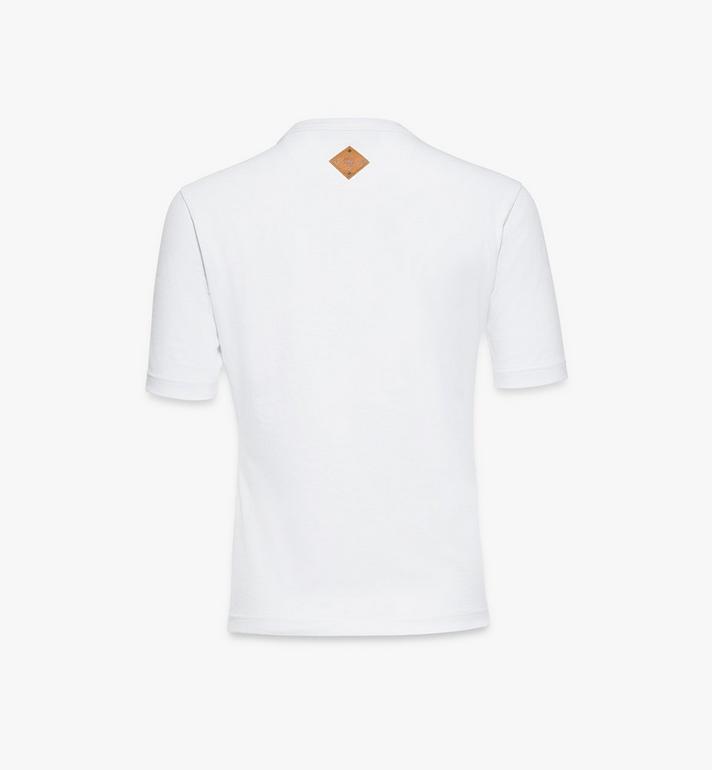 MCM Women's Classic Logo T-Shirt White MFTASMM03W200M Alternate View 2