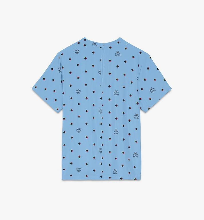 MCM 1976 T-Shirt mit Discorauten für Damen Blue MFTASMV05H200S Alternate View 2