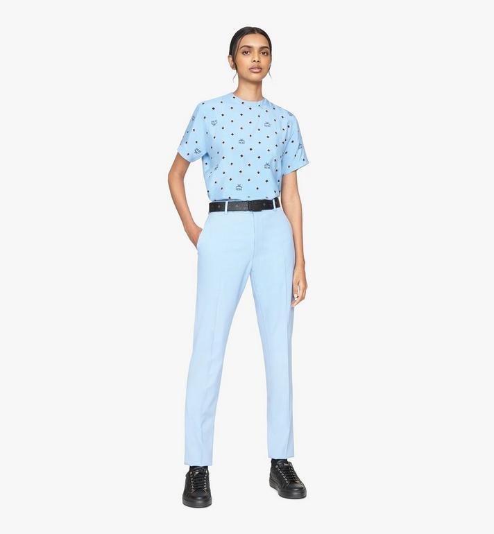 MCM Women's 1976 Disco Diamond T-Shirt Blue MFTASMV05H200S Alternate View 3