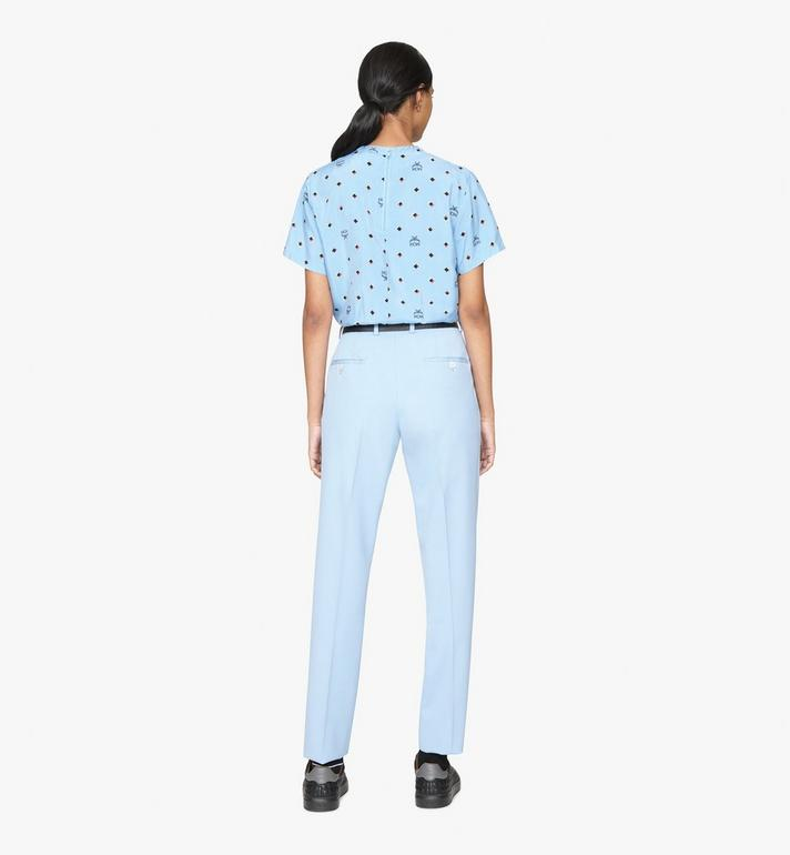 MCM Women's 1976 Disco Diamond T-Shirt Blue MFTASMV05H200S Alternate View 4