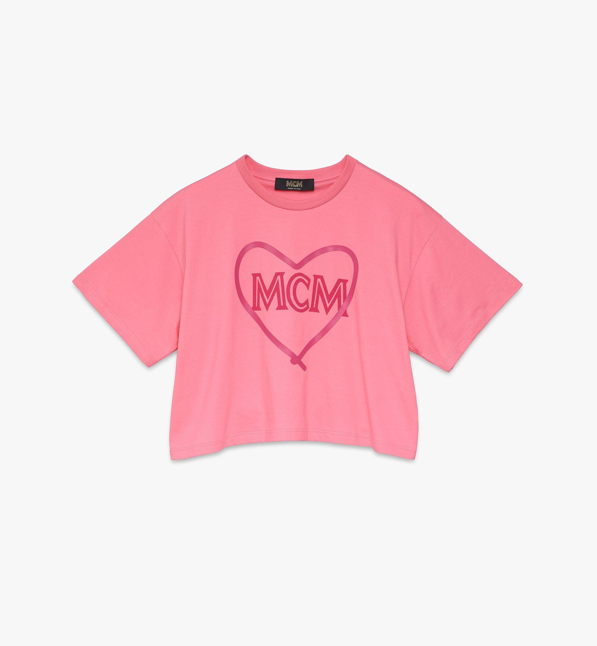 MCM Women's Valentine Crop T-Shirt Pink MFTASXN01QG0XS Alternate View 1