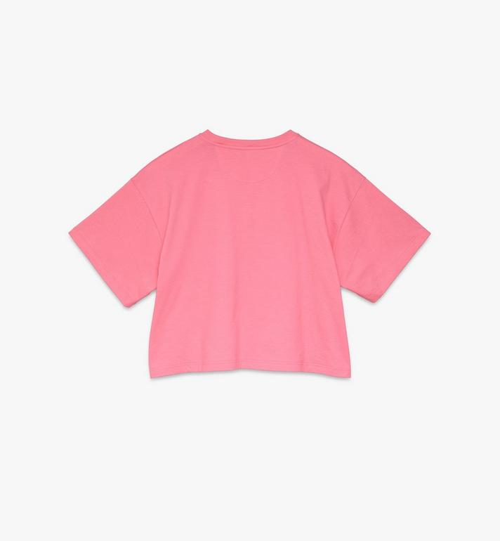 MCM Women's Valentine Crop T-Shirt Pink MFTASXN01QG0XS Alternate View 2