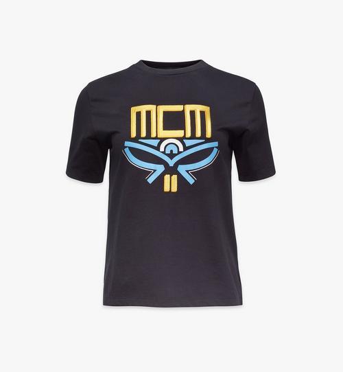 T-Shirt mit geometrischem Lorbeerkranz für Damen