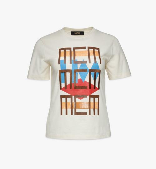 T-Shirt mit geometrischem Graffiti für Damen
