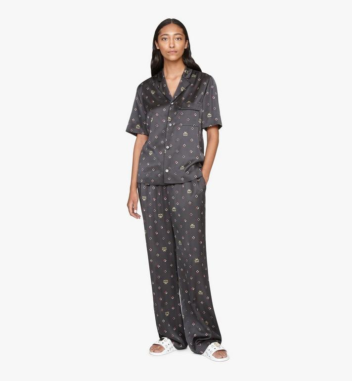 MCM Pyjamahose mit Discorauten-Print für Damen Black MFXASMV01BT042 Alternate View 3