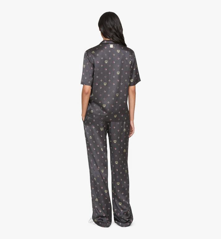 MCM Pyjamahose mit Discorauten-Print für Damen Black MFXASMV01BT042 Alternate View 4