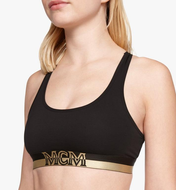 MCM Women's 1976 Sports Bra Black MFYASBM02BK0XL Alternate View 2