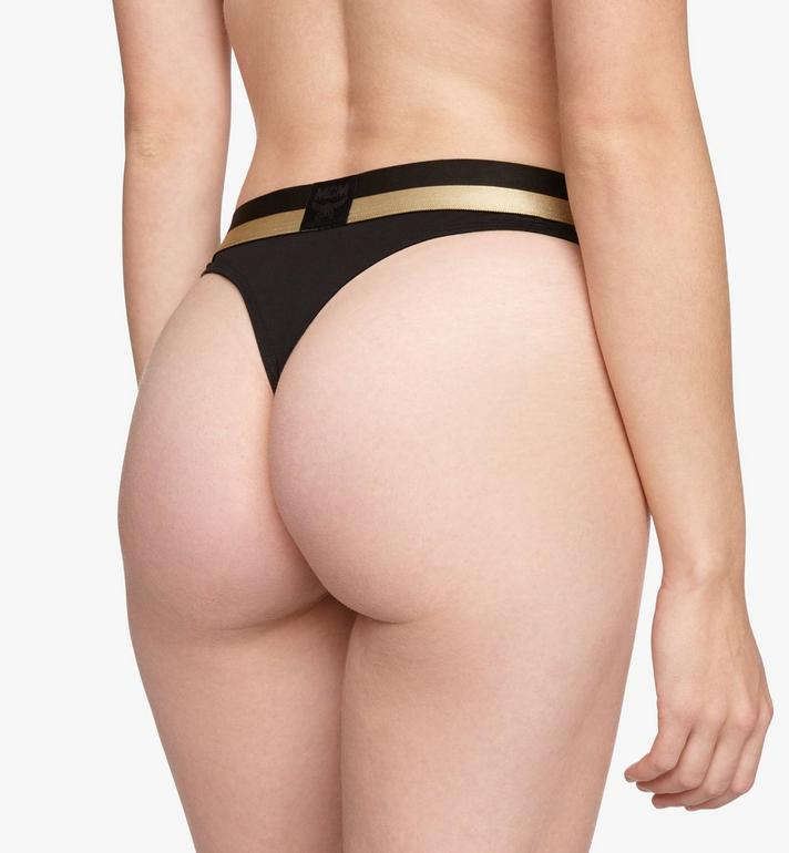 MCM Women's 1976 Thong Black MFYASBM03BK00S Alternate View 5