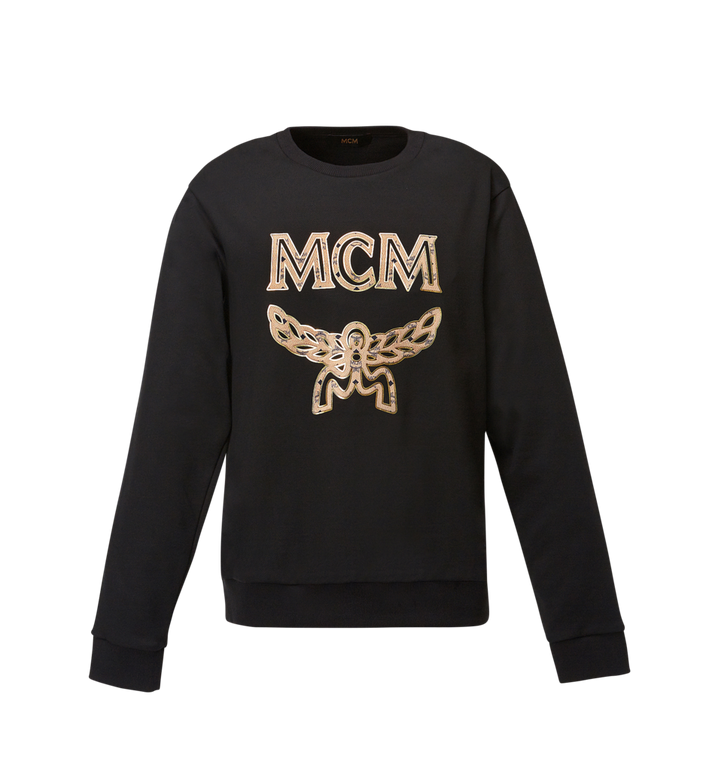 MCM Men's Classic Logo Sweatshirt Black MHA8SMM12BK00M Alternate View 1