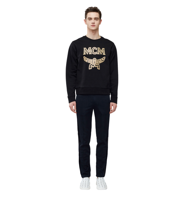 MCM Men's Classic Logo Sweatshirt Black MHA8SMM12BK00M Alternate View 4