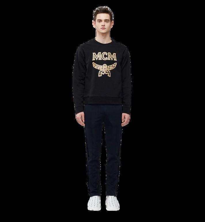 MCM Men's Classic Logo Sweatshirt Black MHA8SMM12BK00M Alternate View 4