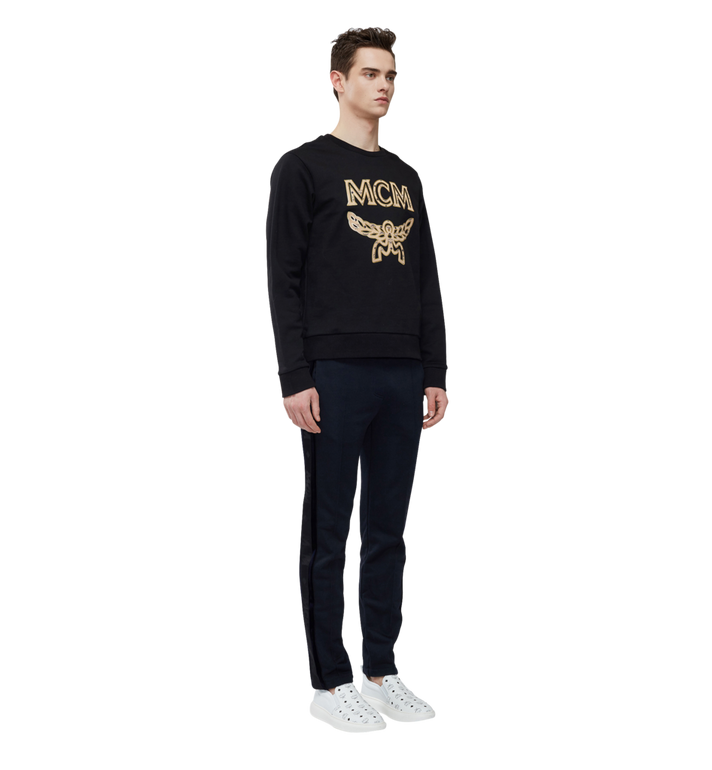 MCM Men's Classic Logo Sweatshirt Black MHA8SMM12BK00M Alternate View 5
