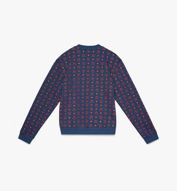 MCM Men's Oversized Sweatshirt in Visetos Blue MHA9AMM72VS00L Alternate View 2