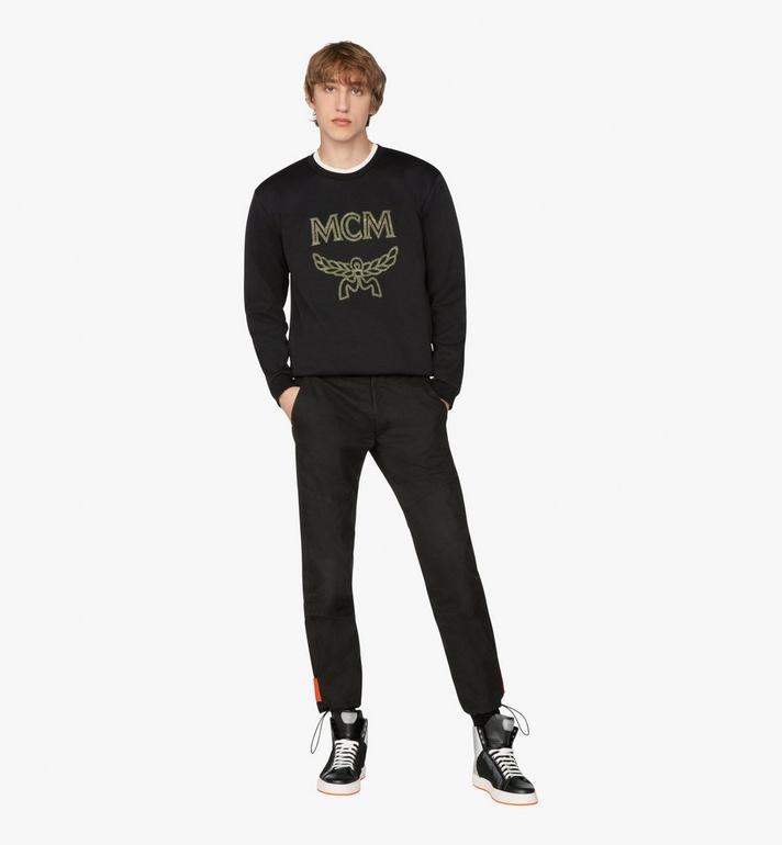 MCM Men's Crystal Logo Sweatshirt Black MHA9AMM96BK00L Alternate View 3