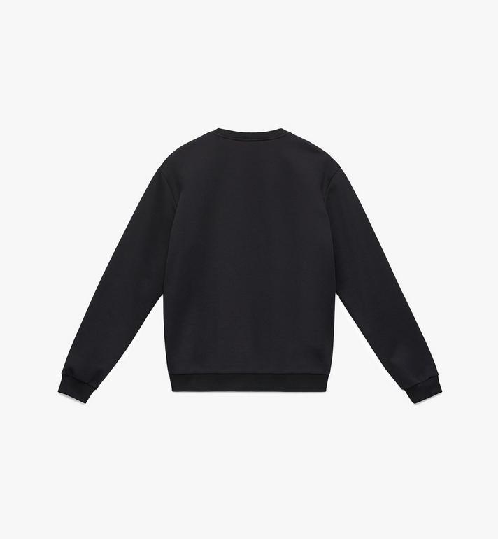 MCM Men's Crystal Logo Sweatshirt Black MHA9AMM96BK00M Alternate View 2