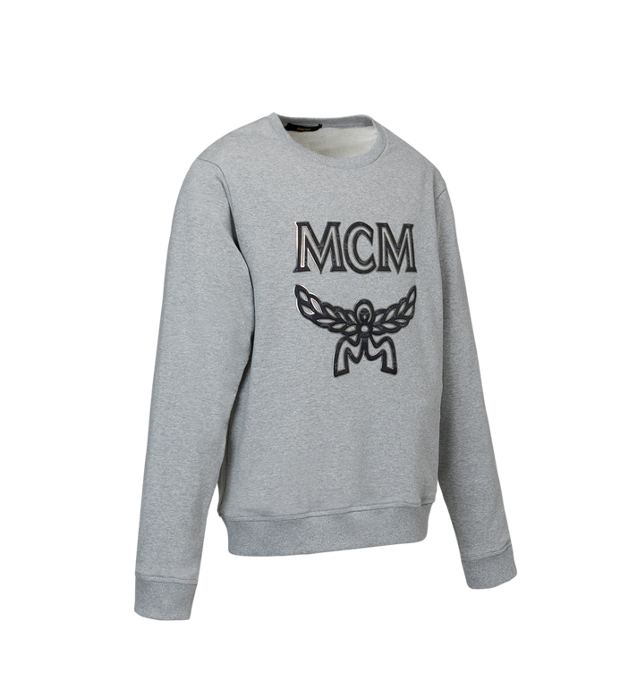 MCM Men's Logo Sweatshirt Grey MHA9SMM12EG00L Alternate View 2
