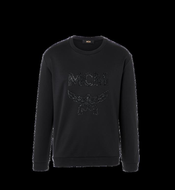 MCM Men's Crystal Detail Logo Sweatshirt Alternate View