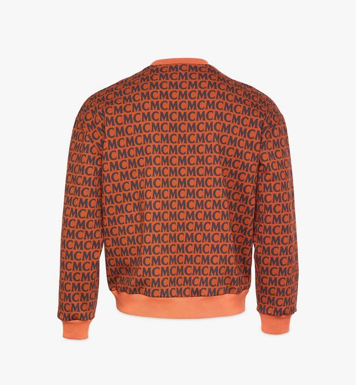 MCM Men's Monogram Sweatshirt Brown MHAAAMD01C400L Alternate View 2