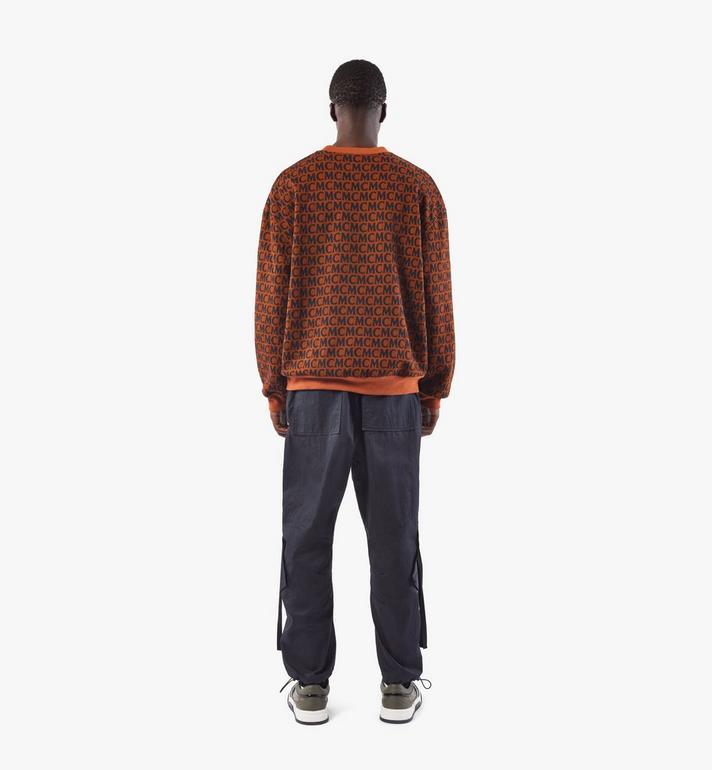 MCM Men's Monogram Sweatshirt Brown MHAAAMD01C400M Alternate View 5