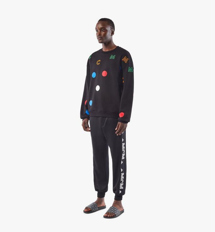 MCM Men's Polka Dot Sweatshirt Black MHAAAPD01BK00M Alternate View 4