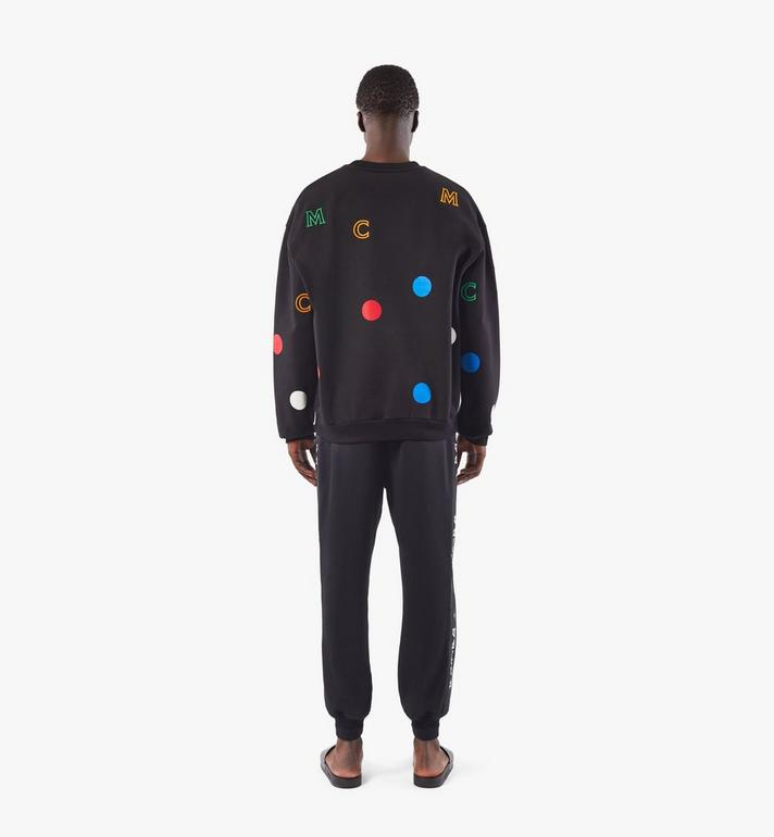 MCM Men's Polka Dot Sweatshirt Black MHAAAPD01BK00M Alternate View 5