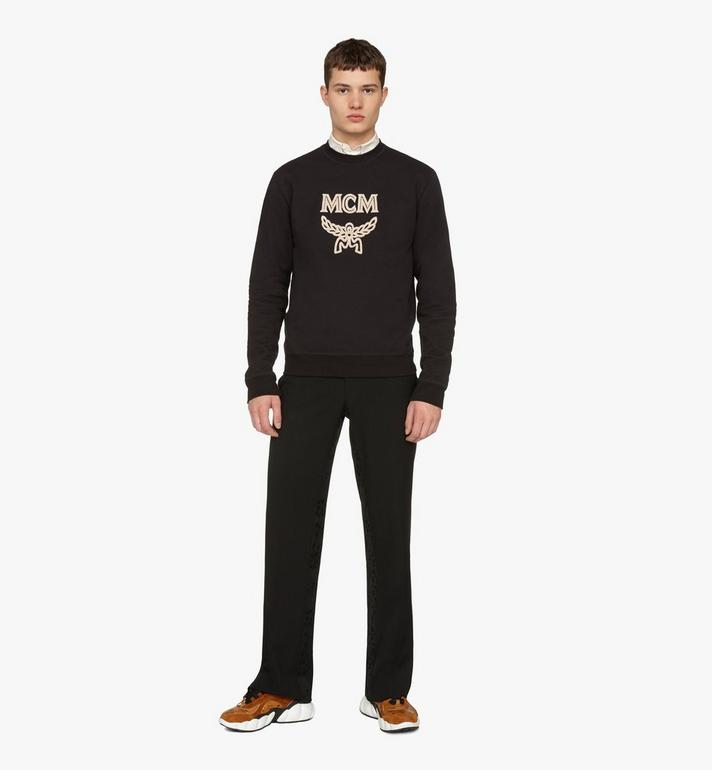 MCM Men's Logo Sweatshirt Black MHAASMM01BT00S Alternate View 3