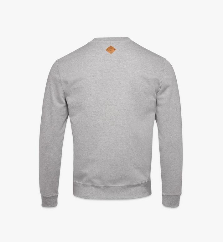 MCM Men's Classic Logo Sweater Grey MHAASMM01FM00M Alternate View 2