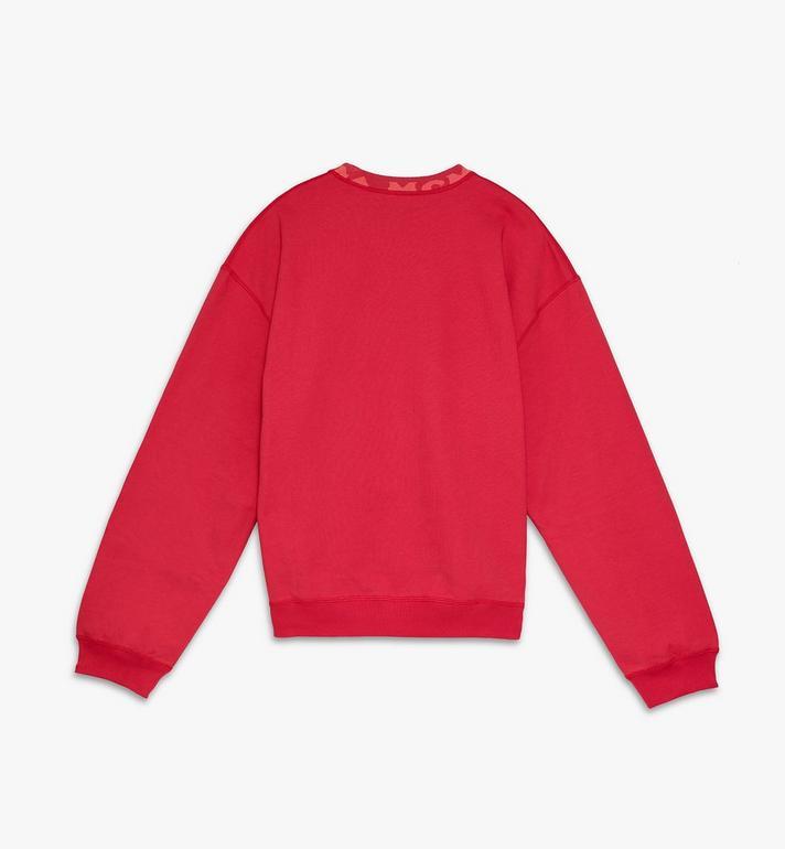 MCM Men's Logo Trim Sweatshirt Red MHAASMM02R400L Alternate View 2