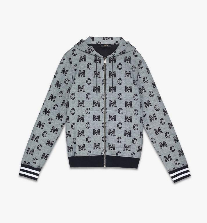 MCM Sweat-shirt zippé monogrammé à capuche pour homme Alternate View