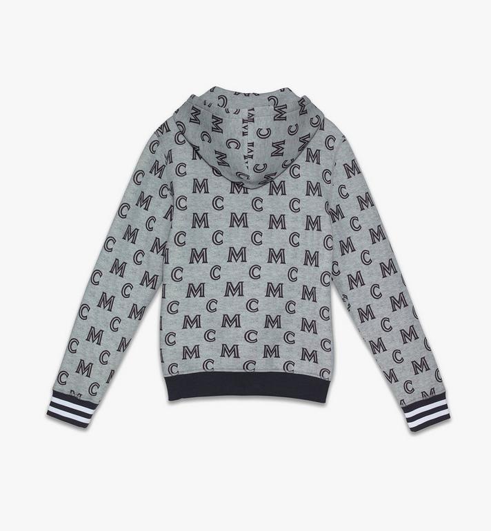 MCM Sweat-shirt zippé monogrammé à capuche pour homme Grey MHAASMM04EG00M Alternate View 2