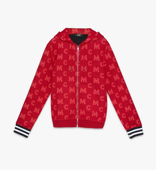 Sweat-shirt zippé monogrammé à capuche pour homme