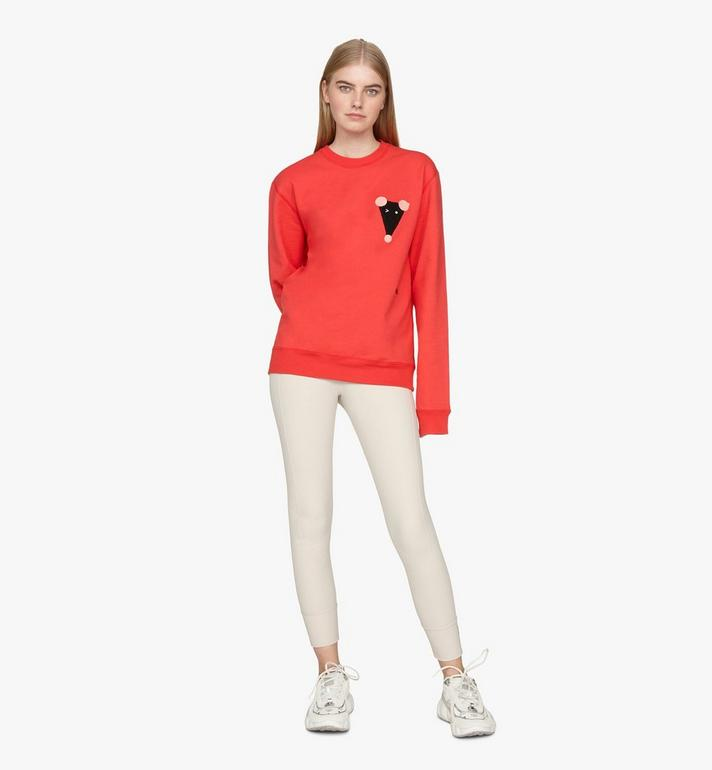 MCM Men's Year Of The Mouse Mockneck Sweatshirt Red MHAASSE02R400S Alternate View 4