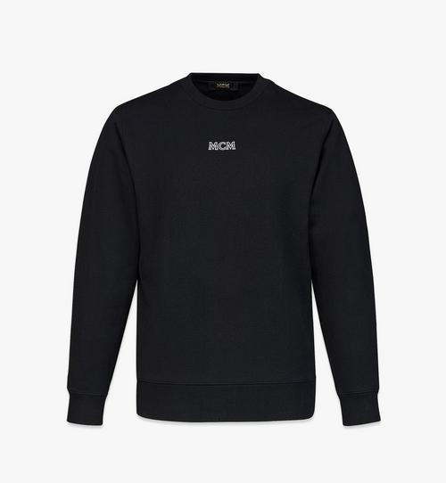 เสื้อสเวตเชิ้ตปักโลโก้ MCM Essentials สำหรับผู้ชาย ทำจากผ้าฝ้ายออร์แกนิก