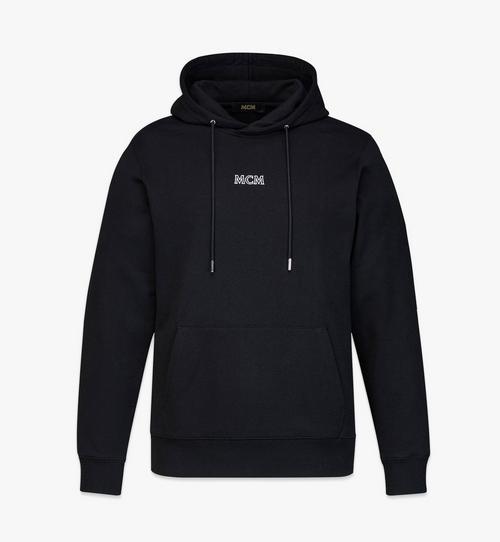 เสื้อฮู้ดปักโลโก้ MCM Essentials สำหรับผู้ชาย ทำจากผ้าฝ้ายออร์แกนิก