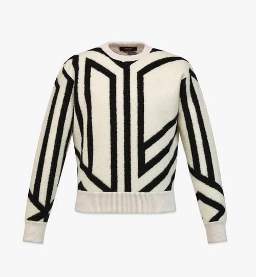 Sweat-shirt à monogramme cubique en laine pour homme