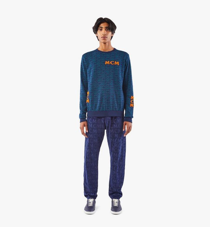 MCM Men's Monogram Wool Sweater Black MHEAAMD01VW00M Alternate View 3