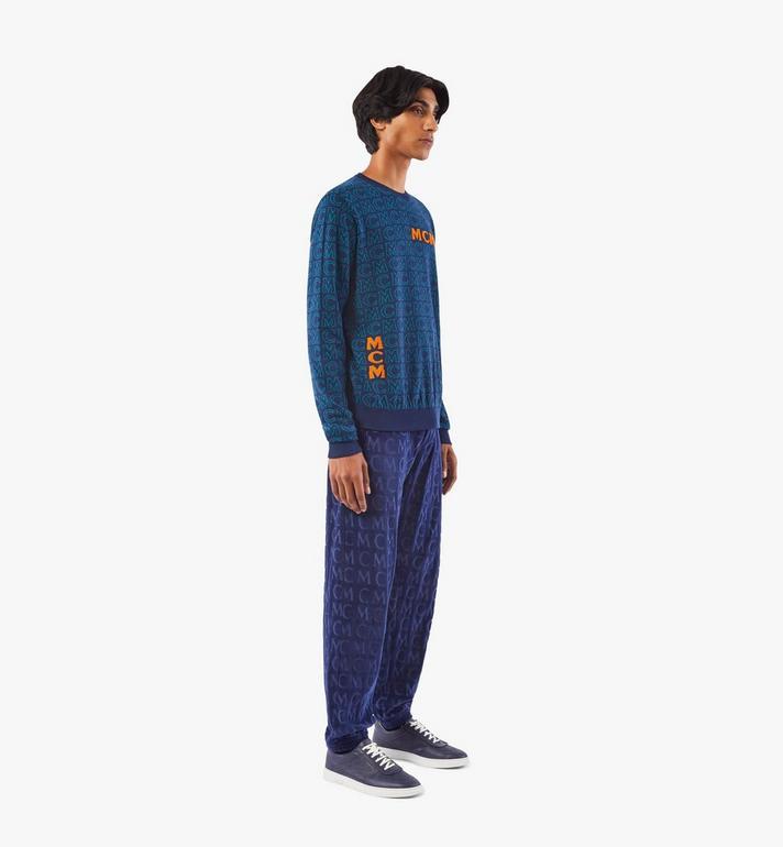 MCM Men's Monogram Wool Sweater Black MHEAAMD01VW00M Alternate View 4