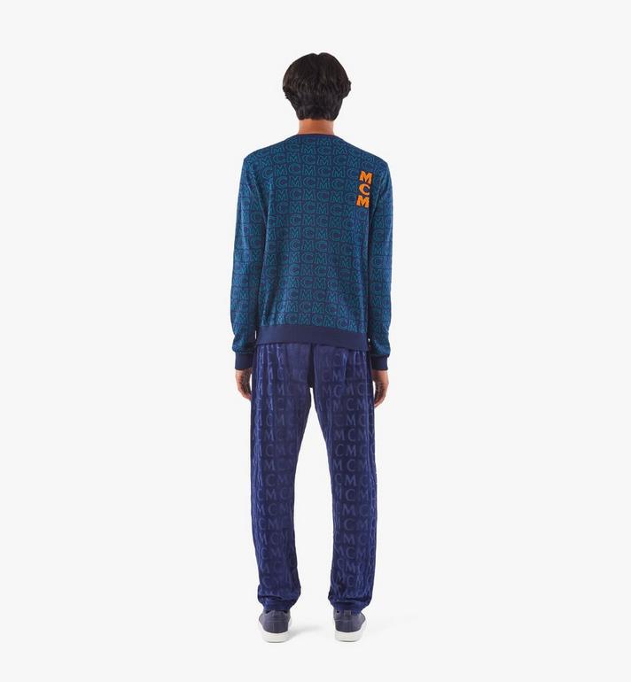MCM Men's Monogram Wool Sweater Black MHEAAMD01VW00M Alternate View 5
