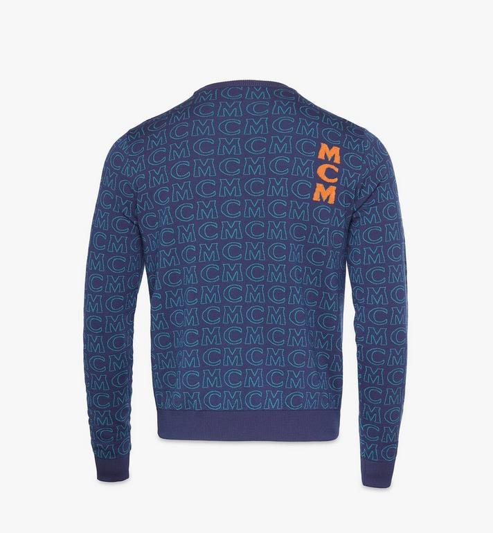 MCM Men's Monogram Wool Sweater Black MHEAAMD01VW0XL Alternate View 2