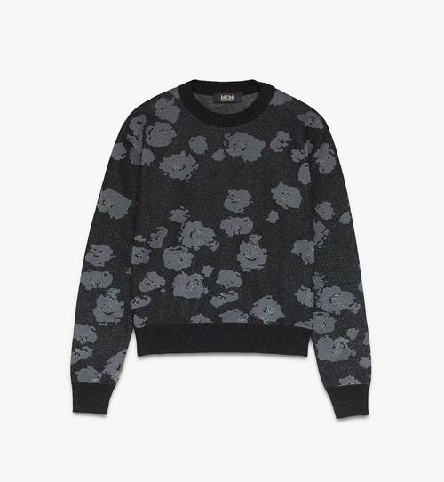 Pullover mit geblümtem Leopardenmuster für Herren