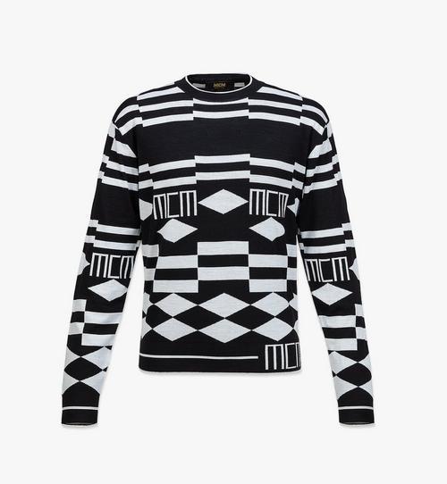 Pull en laine à motifs géométriques pour homme