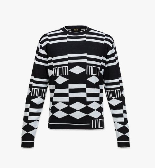 Wollpullover mit geometrischen Motiven für Herren