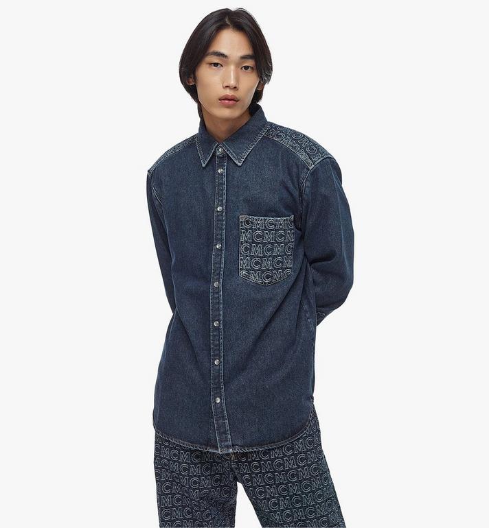 MCM Men's Denim Shirt Black MHHAADS01VW048 Alternate View 5