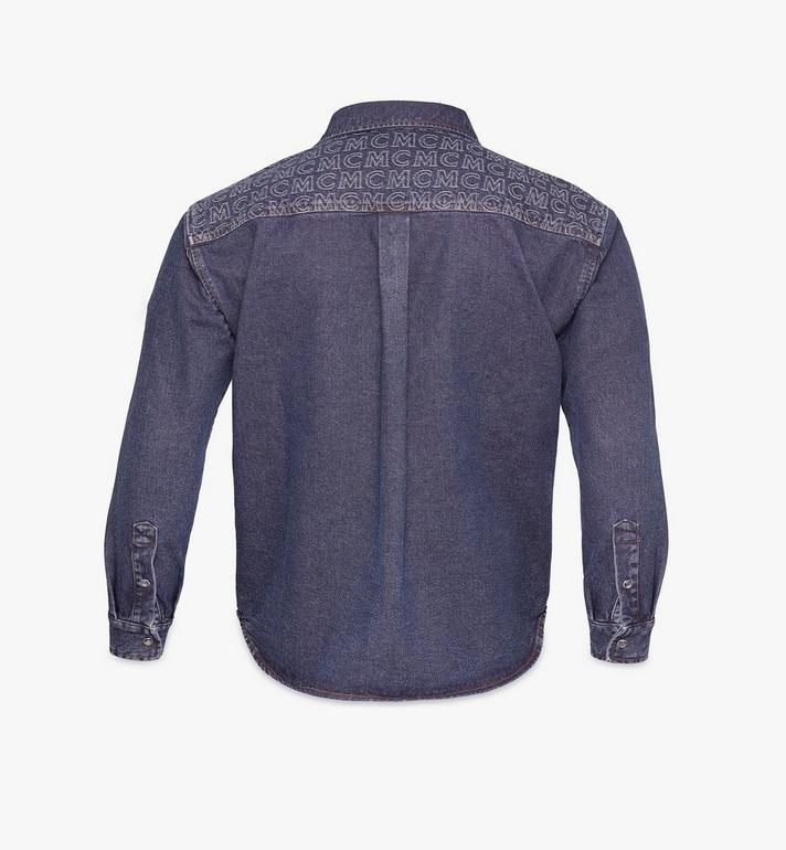MCM Men's Denim Shirt Black MHHAADS01VW050 Alternate View 2