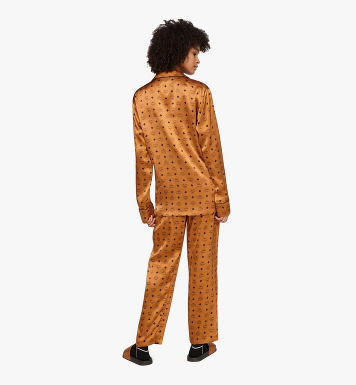 MCM Classic Logo Silk Pajama Shirt Cognac MHHASBM01CO00S Alternate View 6